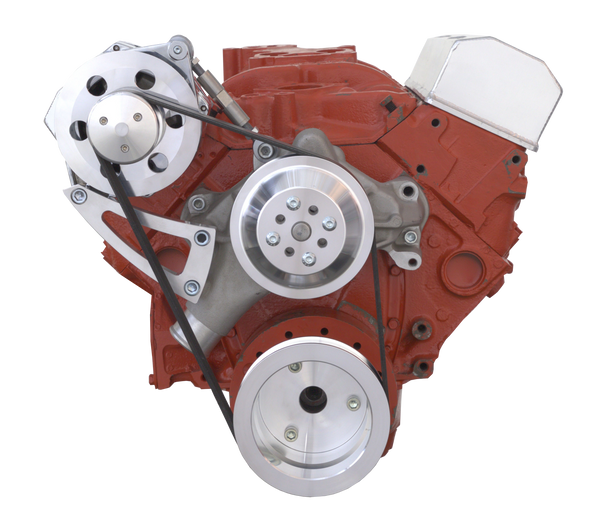 Chevy Small Block Serpentine Conversion - High Mount Alternator Only - Long Water Pump
