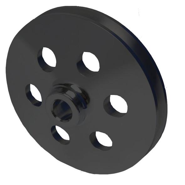 Stealth Black Ford Power Steering Pulley V-Belt Saginaw Pump