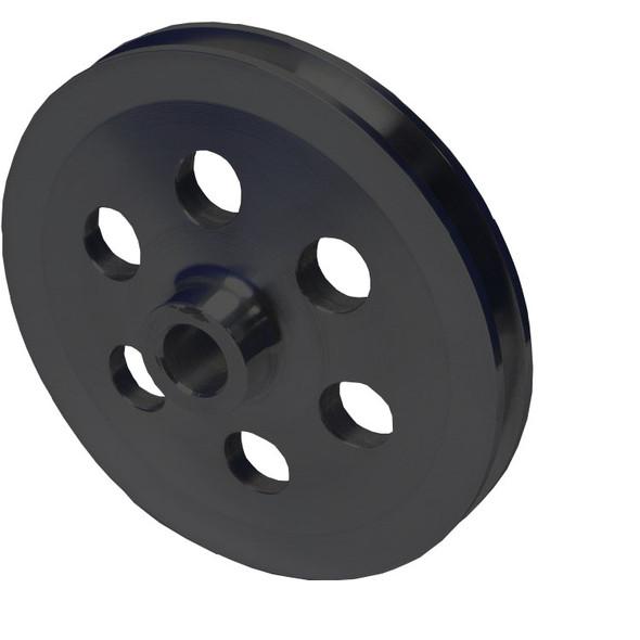 Stealth Black Ford V-Belt Power Steering Pulley Saginaw Pump