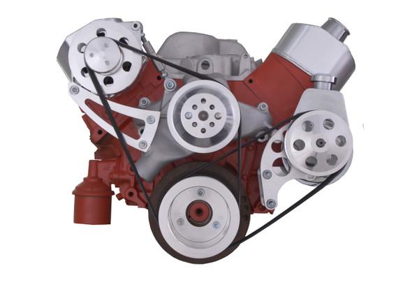 Chevy Big Block Serpentine Conversion Kit - High Mount ALT - Power Steering, Long Water Pump