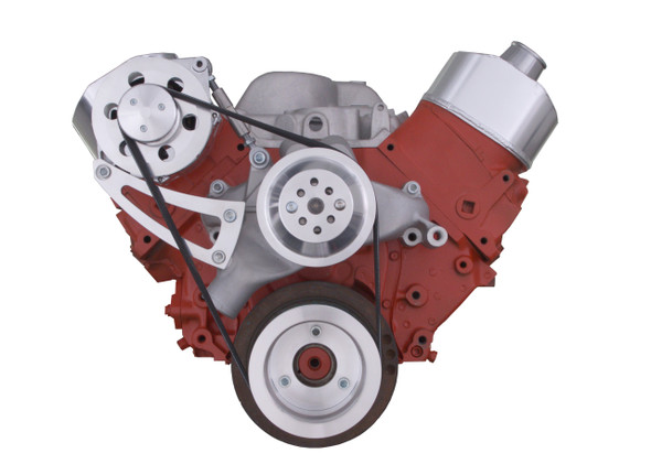Chevy Big Block Serpentine Conversion Kit - High Mount Alternator Only; Long Water Pump