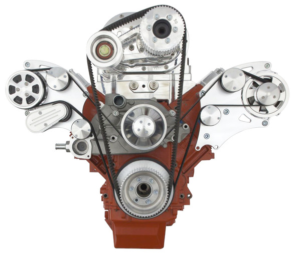 LSX WIDE MOUNT TBS SUPERCHARGED ALTERNATOR ONLY WRAPTOR FRONT SIDE VIEW