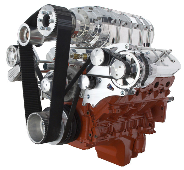 LSX WIDE MOUNT TBS SUPERCHARGED ALTERNATOR ONLY WRAPTOR RIGHT SIDE VIEW