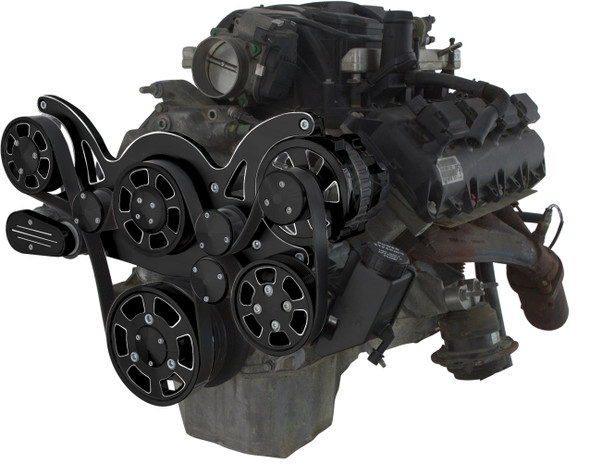 BLACK DIAMOND GEN III HEMI POWER STEERING AND ALTERNATOR WRAPTOR RIGHT SIDE VIEW