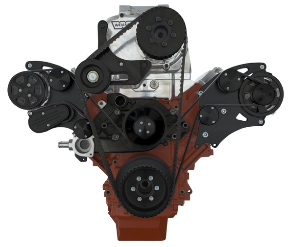 BLACK LSX WIDE MOUNT WEIAND SUPERCHARGER ACO WRAPTOR FRONT SIDE VIEW