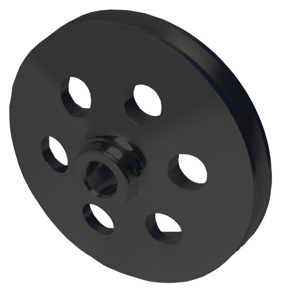 Black Small Block Ford Power Steering Pulley 351W
