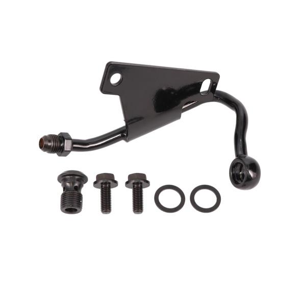 GM Type II Power Steering Pump Low-Mount Hardline; Black