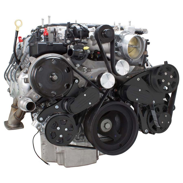Stealth Black Serpentine System for LT4 Supercharged Generation V - AC, Power Steering & Alternator - All Inclusive
