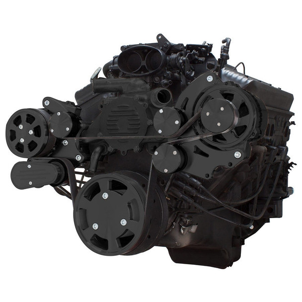 Stealth Black Serpentine System for LT1 Generation II - AC & Alternator