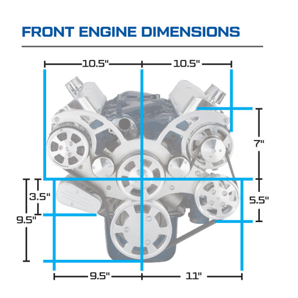Serpentine System for 289, 302 & 351W - AC, Power Steering & Alternator - All Inclusive