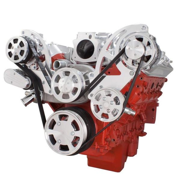 Chevy LS Engine Serpentine Kit - AC, Alternator & Power Steering
