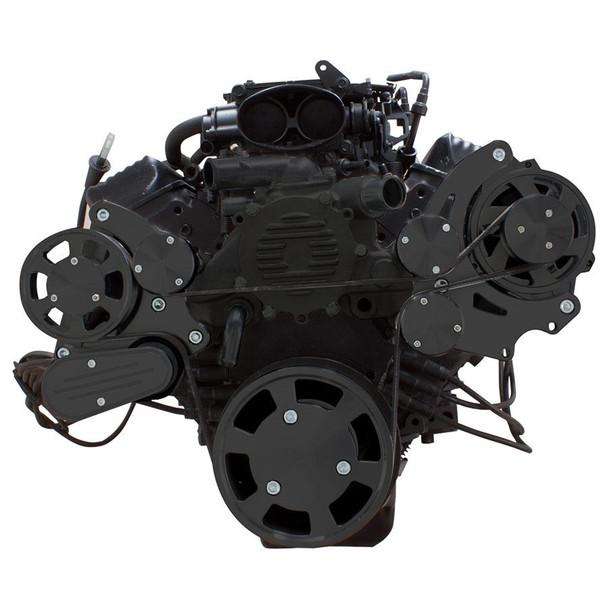 Stealth Black Serpentine System for LT1 Generation II - Alternator Only