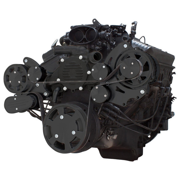 Stealth Black Serpentine System for LT1 Generation II - Alternator Only - All Inclusive