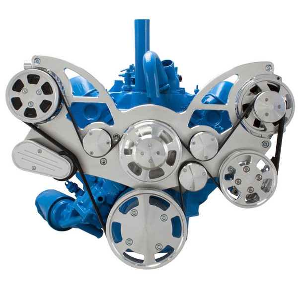 Serpentine System for AMC Jeep 304, 360 & 401 - AC, Power Steering & Alternator - All Inclusive