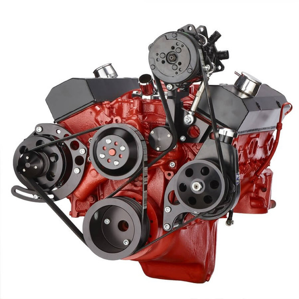 Small Block Chevy 350 400 Electric High Volume Water Pump Powdercoated Red SBC