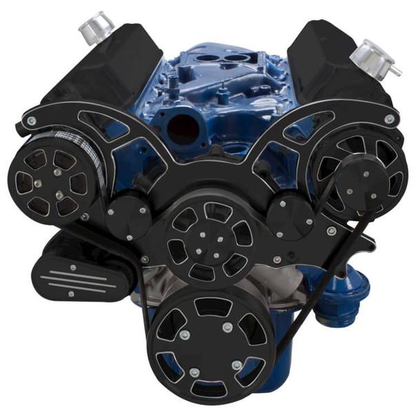 Black Diamond Serpentine System for 289, 302 & 351W - AC & Alternator - All Inclusive