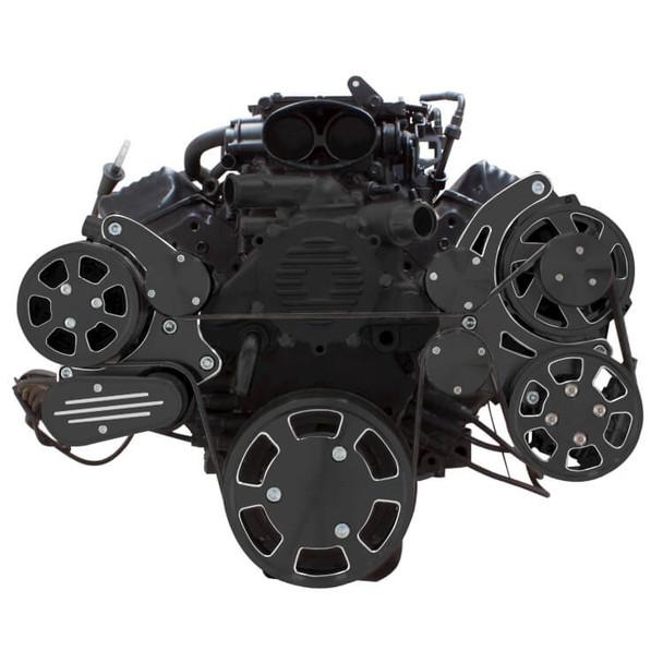 Black Diamond Serpentine System for LT1 Generation II - AC, Power Steering & Alternator - All Inclusive