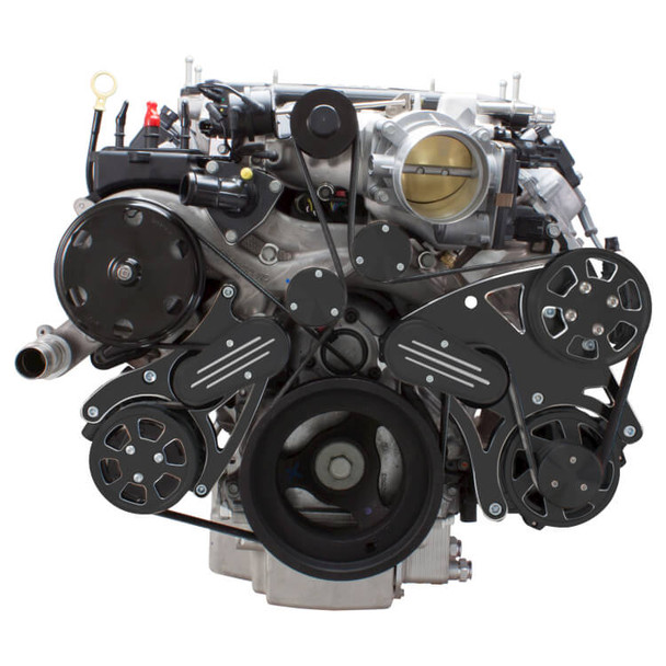 Black Diamond Serpentine System for LT4 Supercharged Generation V - AC, Power Steering & Alternator - All Inclusive