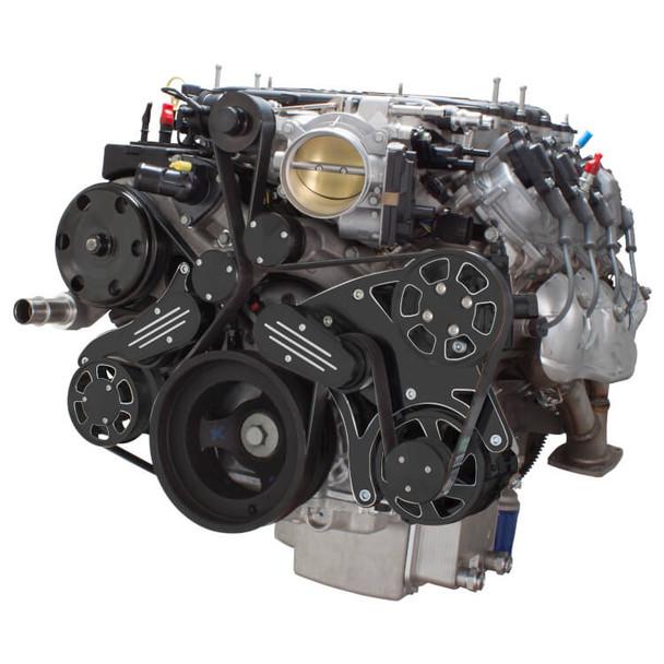 Black Diamond Serpentine System for LT4 Supercharged Generation V - Power Steering & Alternator - All Inclusive