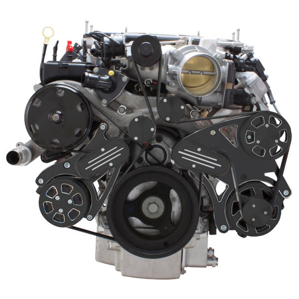 Black Diamond Serpentine System for LT4 Supercharged Generation V - AC & Alternator - All Inclusive