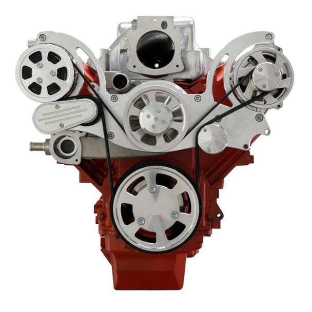 Chevy LS Engine Serpentine Kit - AC & Alternator - Mid-Mount