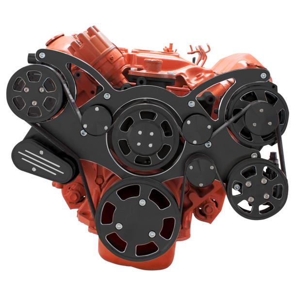 Black Diamond Serpentine System for Big Block Mopar 426 Hemi - AC, Power Steering & Alternator - All Inclusive