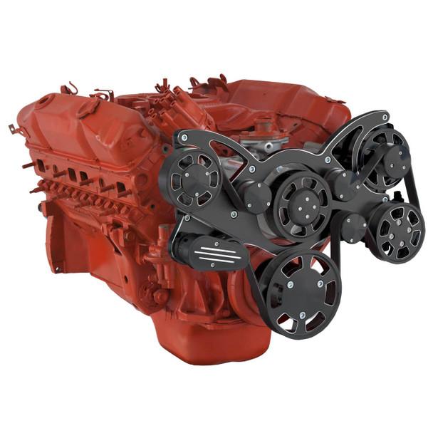 Black Diamond Serpentine System for Big Block Mopar 426 Hemi - Power Steering - All Inclusive