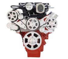 Chevy LS Wraptor Serpentine Supercharger kit for Edelbrock