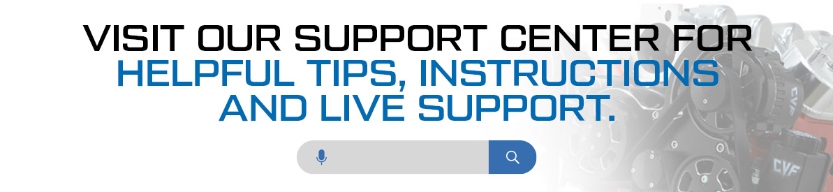 CVF Technical Support Center | Helpful Tips and Instructions on Brackets, Pulleys, V-Belt and Serpentine Kits and Hinges