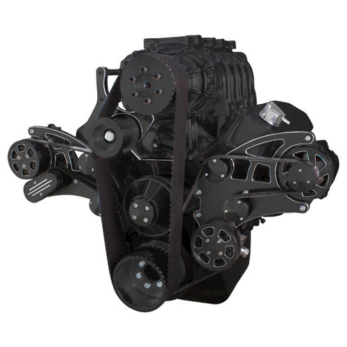 Supercharger Kits For Ford 390: Black Diamond Serpentine Conversion Kit For Big Block
