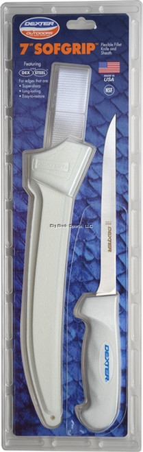 "Dexter SG133-7-WS-1PCP SofGrip 7"" Narrow Fillet Knife, With Sheath"