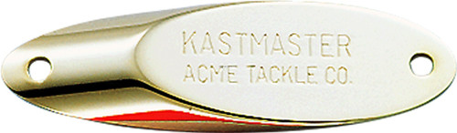 """Acme SW111/G Kastmaster Spoon, 2 1/4"""", 1/2 oz, Gold with White"""