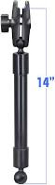 """Ram 1"""" to 1"""" Ball Ext Pole 14"""" Lng w/Arm"""