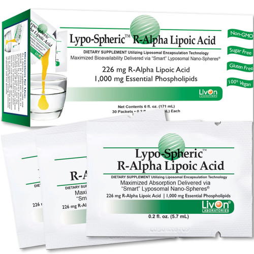 Lypo-Spheric® R-Alpha Lipoic Acid 30 packs