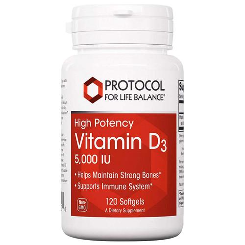 Vitamin D3 5000 IU 120 softgels