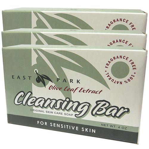Olive Leaf Cleansing Bar Green 6 pack