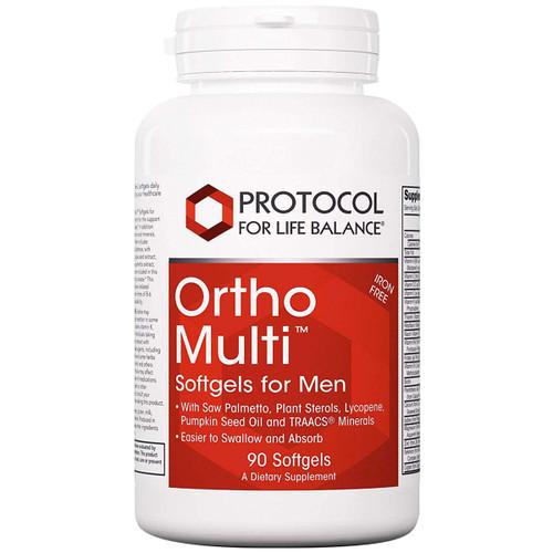Ortho Multi Softgels For Men (Iron Free) 90 Softgels