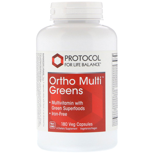 Ortho Multi Greens Iron-Free 180 vcaps
