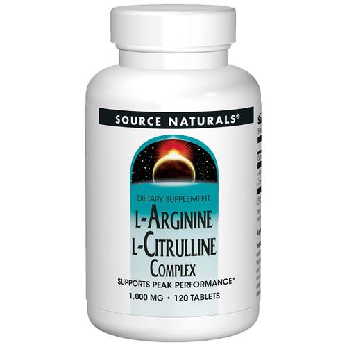 L-Arginine L-Citrulline Complex 120 tabs