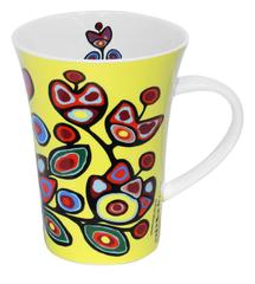 Floral on Yellow -Norval Morrisseau