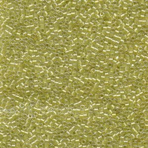 Cut Yellow Green Sparkle Crystal Lined