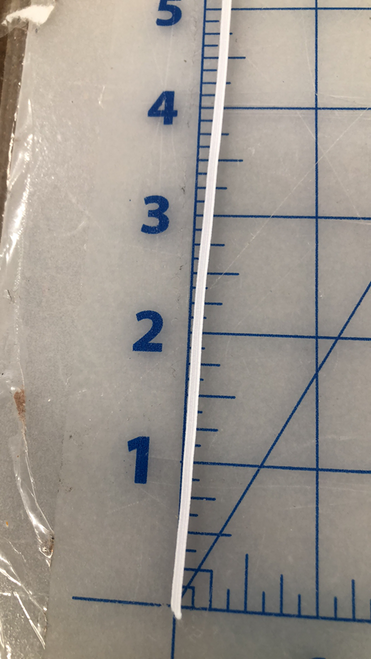 "1/8"" white flat elastic"