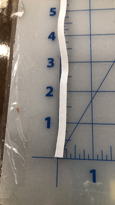 "1/4"" white elastic"