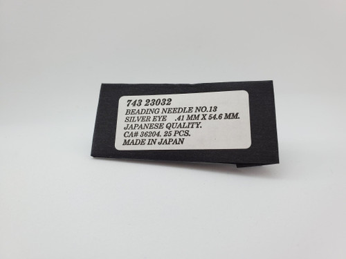 Beading Needle Size: 13- silvereye