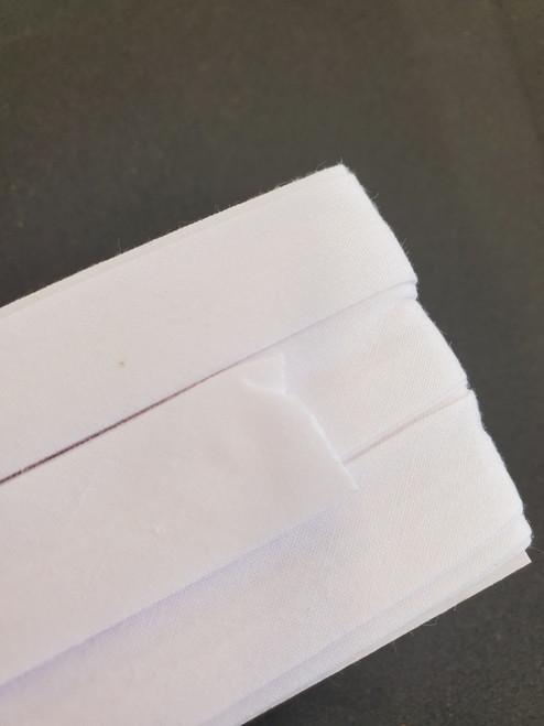 Extra Wide Bias Tape : White