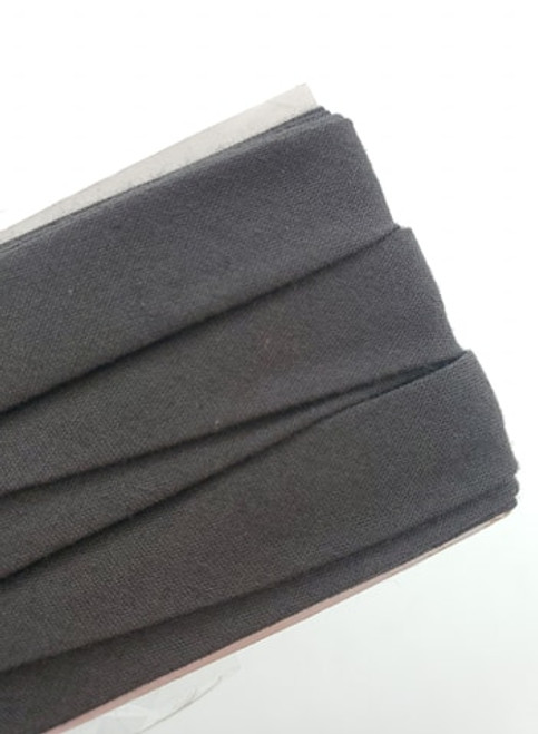 Extra Wide Bias Tape : Dark Grey