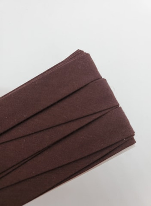 Extra Wide Bias Tape : Dark Brown