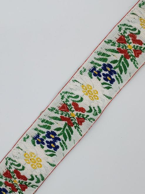 Floral Trim : White