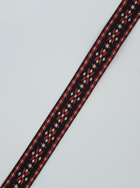 Geometric Trim : Black / Red