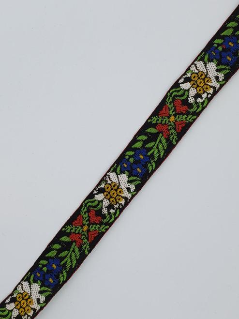 Floral Trim : Black